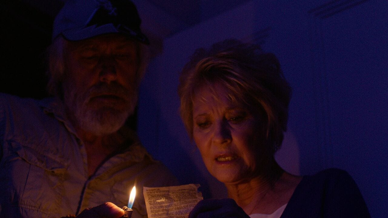 Dee Wallace and Geoff Morrell - Red Christmas Photo by Douglas Burdorff